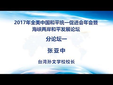 分论坛一 台湾孙文学校校长 张亚中