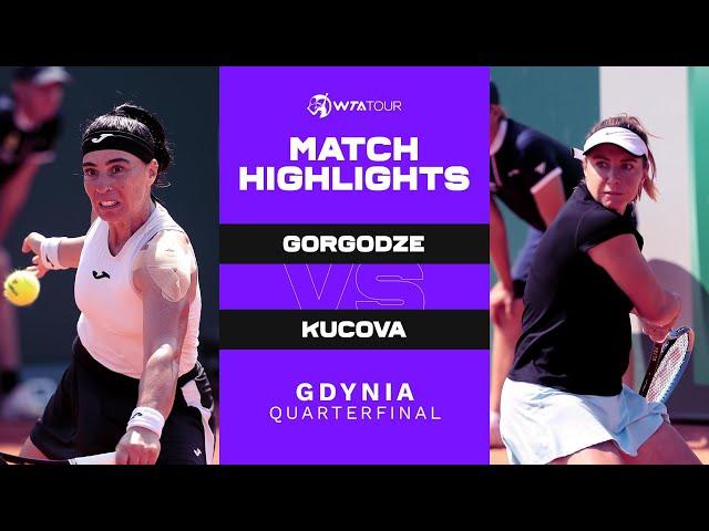 Ekaterine Gorgodze vs. Kristina Kucova | 2021 Gdynia Quarterfinal | WTA Match Highlights