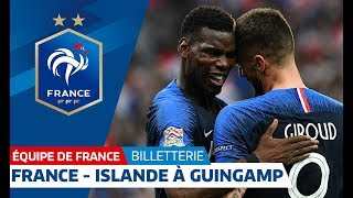 France - Islande le jeudi 11 octobre à Guingamp, Equipe de France I FFF 2018