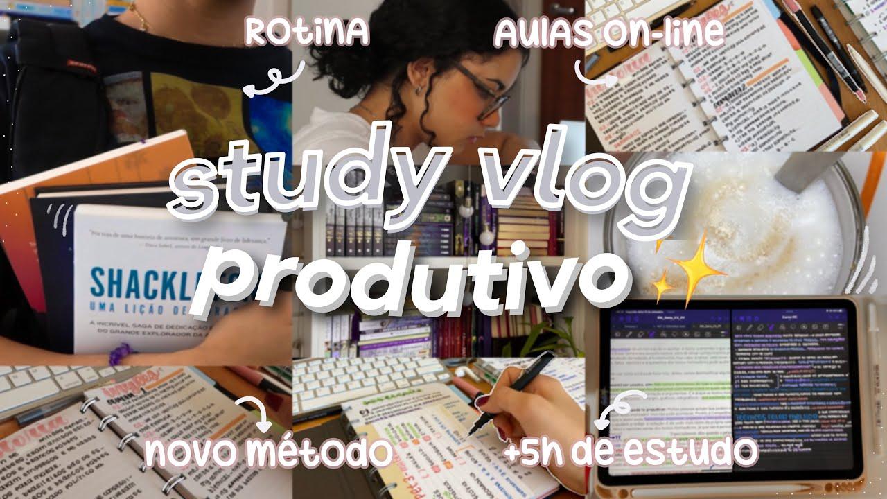study vlog produtivo   dias de estudos, dicas de concentração & lofi 🖇✨