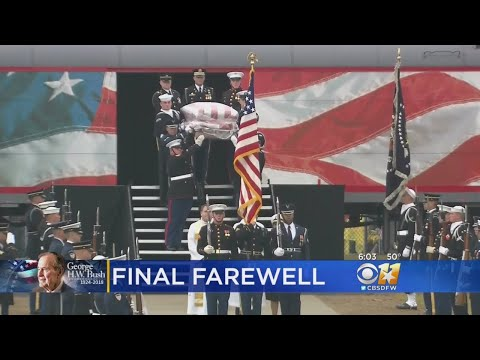Texas A&M Welcomes President Bushs Casket Before Burial