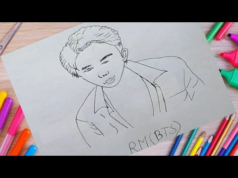 Go For 1K || RM (BTS) || DRAWING ARTS BD #shorts