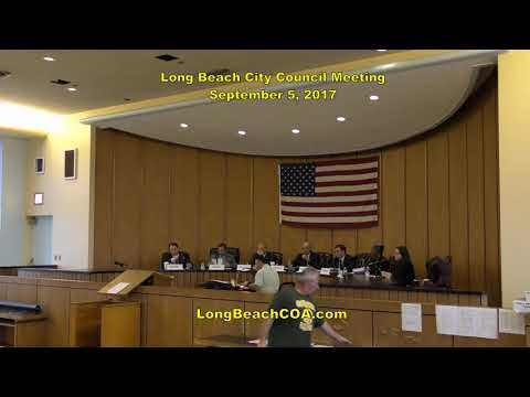 Long Beach City Council Meeting 09/05/17