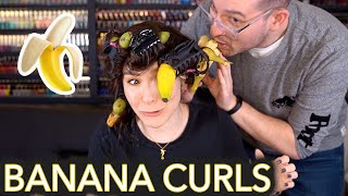 Curling My Hair With Bananas