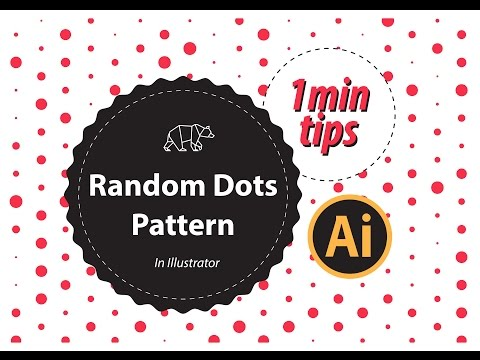How To Create  Random Dots Pattern in Illustrator | The Design Student