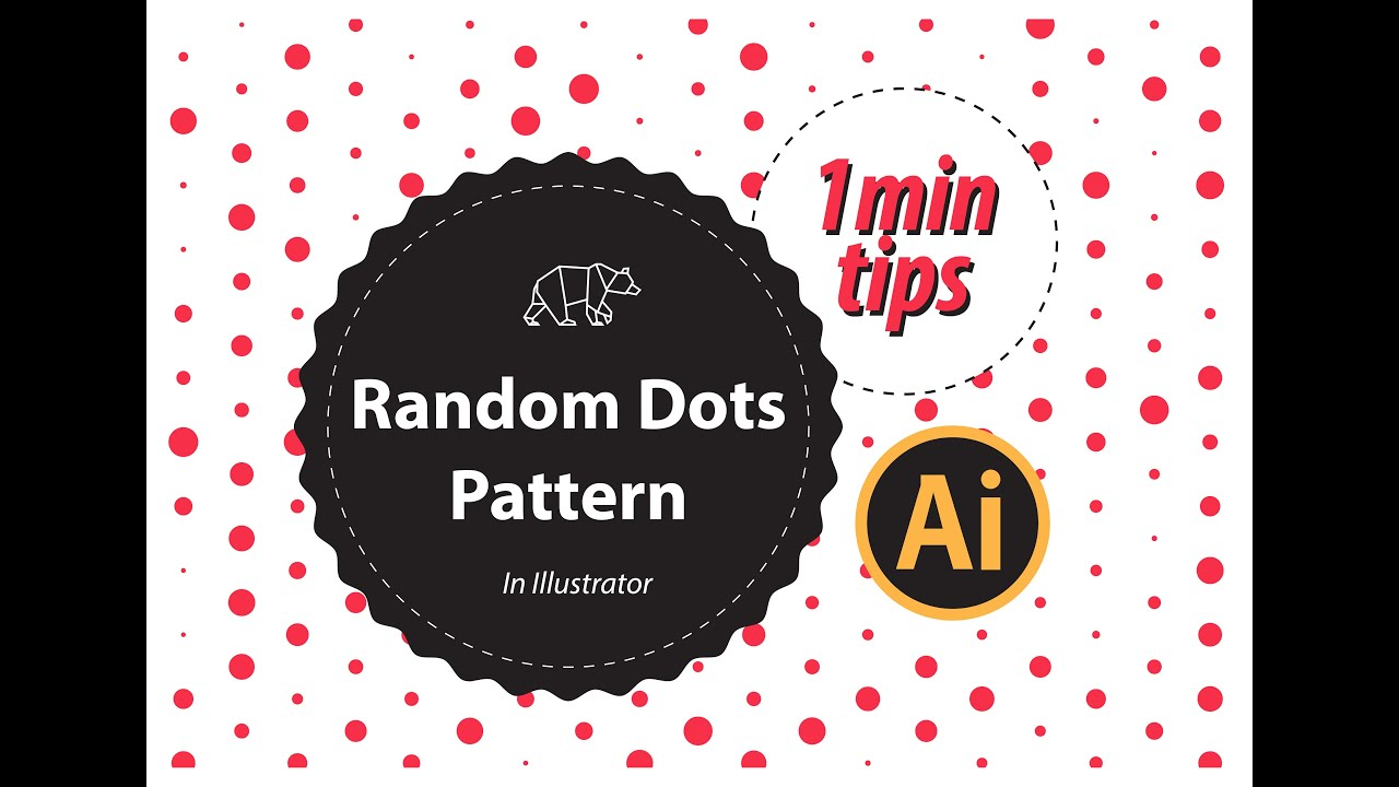 How To Create Random Dots Pattern in Illustrator | The