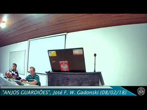 """Palestra Pública 08/02/2018, """"Anjos Guardiões E Espíritos Protetores"""", José Floriano W. Gadonski"""