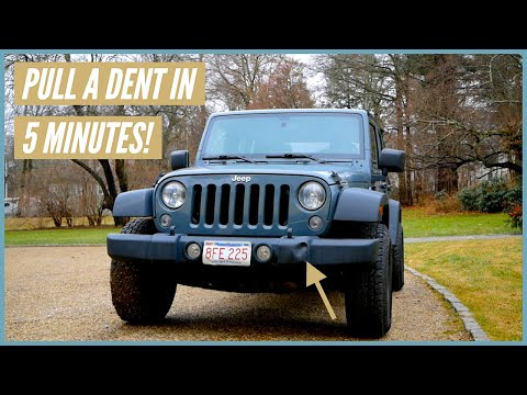 How to Fix a Dented Jeep Bumper // Easy 5 Minute DIY!