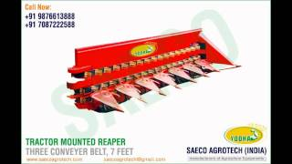 Tractor Mounted Reaper 3 Conveyer Belt manufacturers india www.saecoagrotech.com