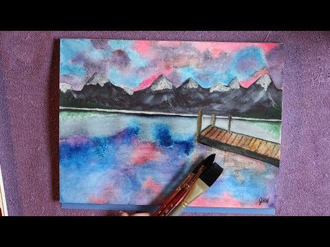 Lake Landscape Using Daniel Smith Watercolors on Stonehenge Watercolor  Paper