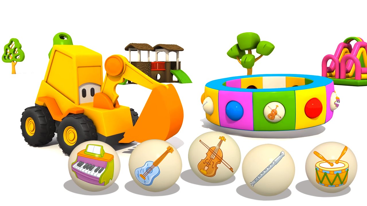 Cartoni animati per bambini l escavatore max e gli str