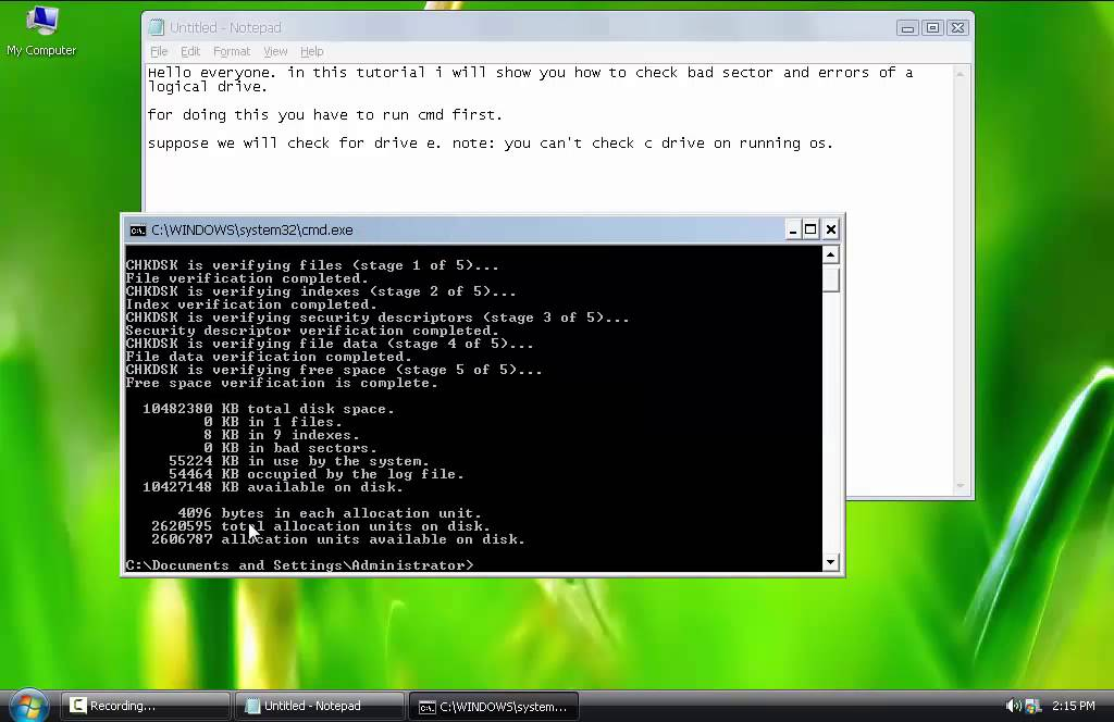 How to check Bad Sector of Physical Hard Drive and fix Hard Drive Error in  windows