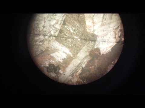 alkali feldspar syanite عينات جيولوجية تحت الميكروسكوب