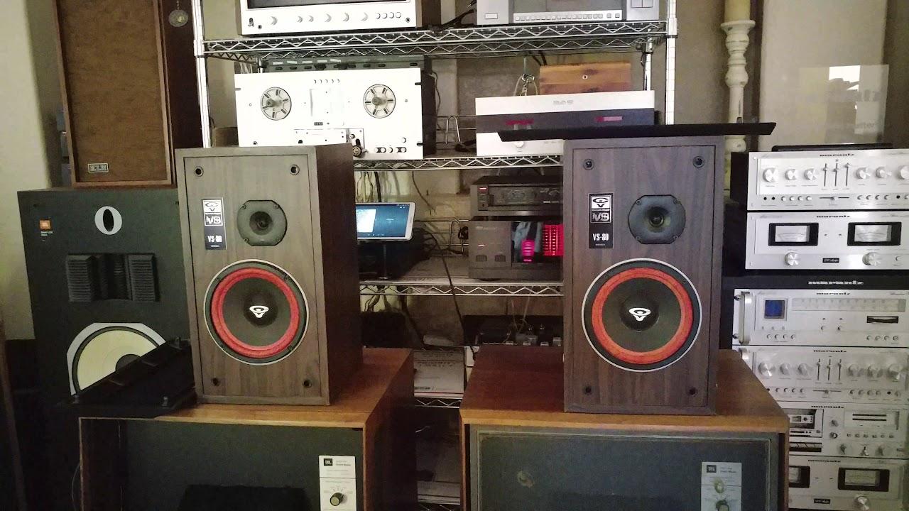 Cerwin Vega VS 80 Bookshelf Speakers Yamaha M Amplifier C Controller