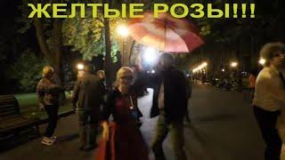 Желтые розы!!!Народные танцы,сад Шевченко,Харьков!!!!