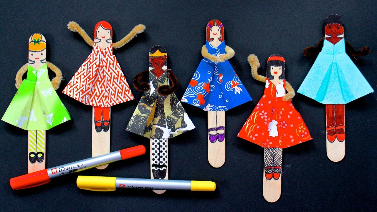 Papercraft DIY Posable Origami Dolls ~with FREE Printable~