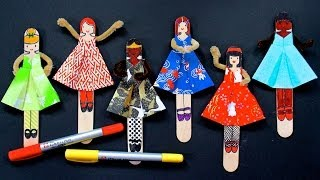 DIY Posable Origami Dolls ~with FREE Printable~
