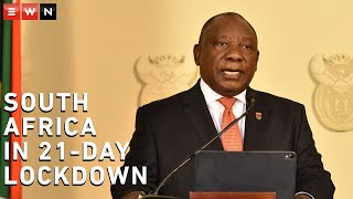 President Cyril Ramaphosa announced that South Africa will go into lockdown for 21 days, starting from 26 March 2020, midnight.  #CoronavirusSA #SouthAfricaShutdown #SouthAfricaLockdow
