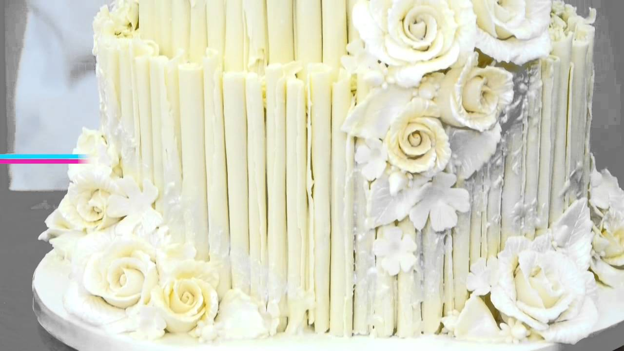 Rustic White Chocolate Wedding Cake Overview - YouTube