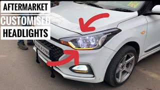 I20 Facelift modifications and accessories | customised headlight for all car | modified cars