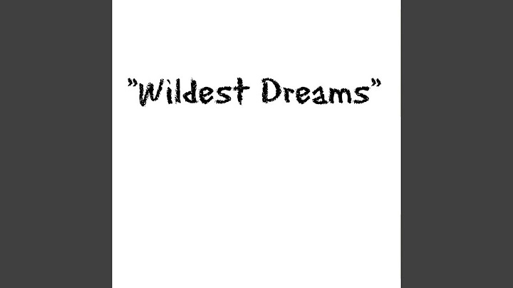 wildest dreams originally performed by taylor swift