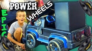 Power Wheels Sound Systems w/ Real Speakers & Subwoofers | Kids Modified 12v PW Car Audio Comp