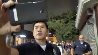 Police Officer Puts His Camera In My Face