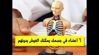 6 أعضاء في جسمك يمكن العيش بدونهم ... معلومة ستصدمك | اعضاء بالجسم يمكن الاستغناء عنها