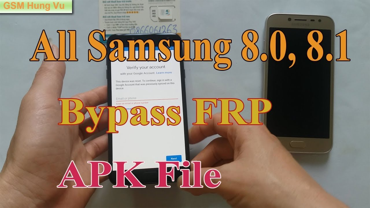 Bypass FRP All Samsung Android 8.0, 8.1 by APK File.  #Smartphone #Android
