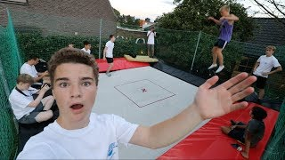 WORLD'S BOUNCIEST TRAMPOLINE IN HIS BACKYARD!