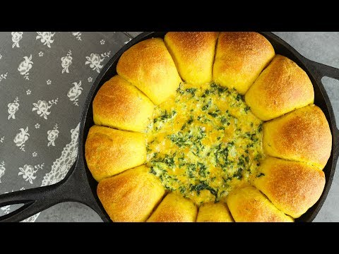 Curry Bread With Cheese Spinach Dip