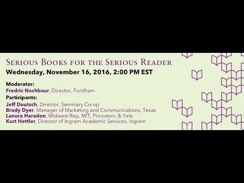 #UPWeek Event: Serious Books for the Serious Reader