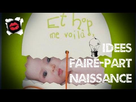 Populaire Idées de faire-part naissance originaux - YouTube TP13