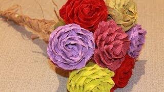 РОЗЫ из бумаги(Розы из бумаги своими руками Мой КАНАЛ тут YOUTUBE https://www.youtube.com/user/MsSvoimirukami Еще видео: ШКАТУЛКА своими руками..., 2014-05-18T00:34:31.000Z)