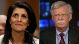 John Bolton and Nikki Haley