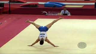PETROUNIAS Eleftherios (GRE) - 2018 Artistic Worlds, Doha (QAT) - Qualifications Floor Exercise