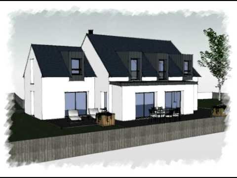 Arteco 235 maison contemporaine avec toit en zinc youtube for Maison moderne avec toit zinc