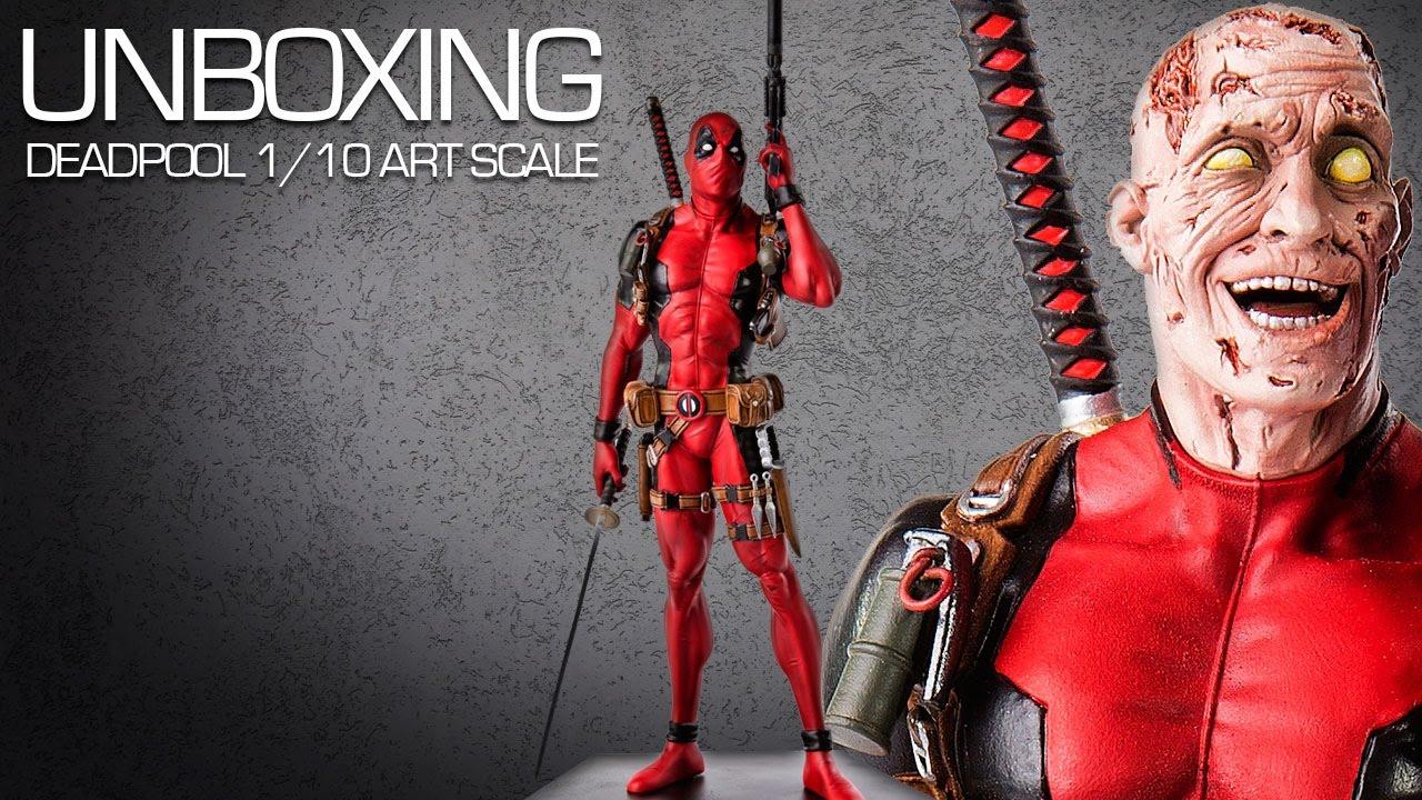 marvel comics 1/10 scale art statue - deadpool