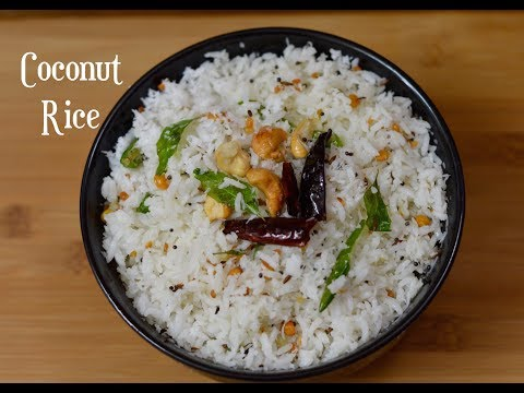 Coconut Rice Recipe Quick And Easy Rice Recipe South Indian Recipe