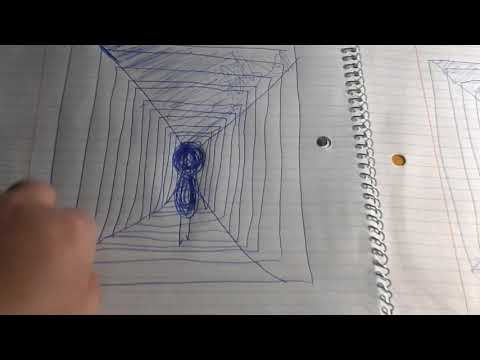 How To Draw A 3 Dimensional Hallway Easy Steps Youtube