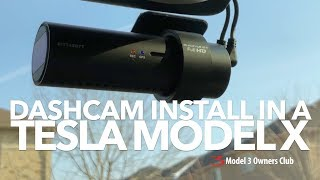 BlackVue Dashcam install in a Tesla Model X