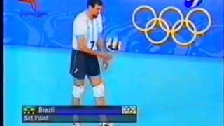 SYDNEY 2000 VOLEY-Argentina 3 vs Brasil 1