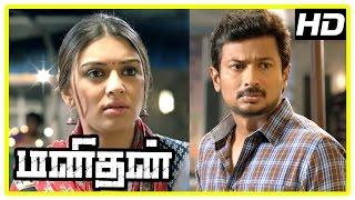 Manithan Tamil Movie | Scenes | Udhayanidhi decides to fight against Prakash Raj | Hansika