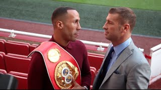 JAMES DeGALE v LUCIEN BUTE - HEAD TO HEAD @ EMIRATES STADIUM PITCH (ARSENAL) / NOVEMBER 28TH 2015