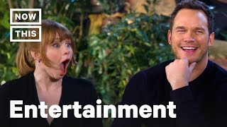 'Jurassic World' Stars Chris Pratt and Bryce Dallas Howard Play Dinosaur Trivia | NowThis