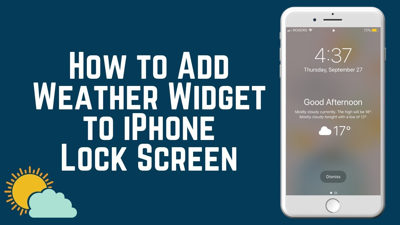 New Ios 12 Feature How To Add Weather Widget To Lock Screen Youtube