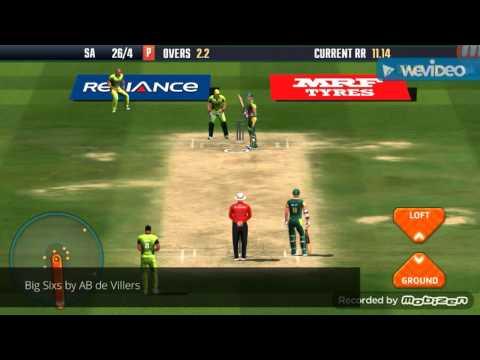 Big Sixs by AB de Villers on Icc Pro Cricket 2015