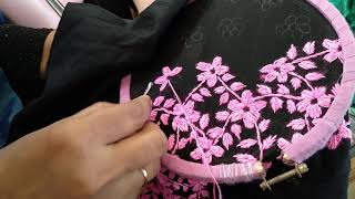 Hand embroidery design - Flower embroidery