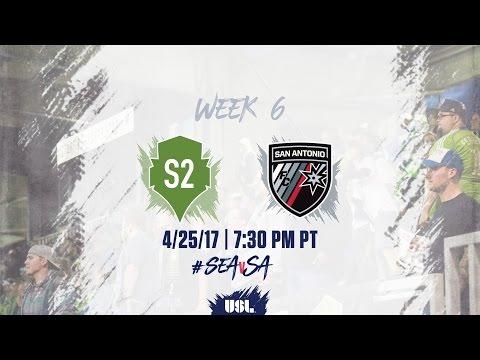 USL LIVE - Seattle Sounders FC 2 vs San Antonio FC 4/25/17
