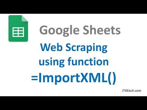 Парсинг (скрапинг) веб-страницы с помощью функции ImportXML()